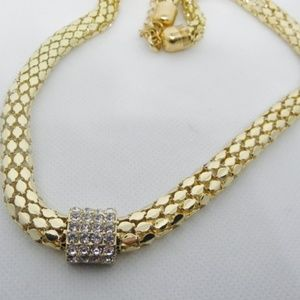 Bold Crystal studded Slide Pendant/Necklace